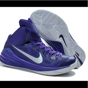 online store 47d54 8e50d ... netherlands nike shoes nike hyperdunk lunarlon purple silver basketball  90afe 54395